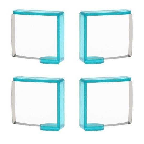 4x turquoise tafelkleed klemmen