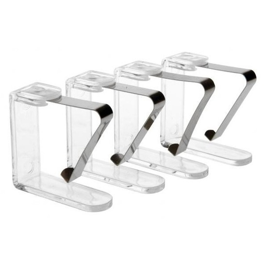 8x transparante tafelkleed klemmen