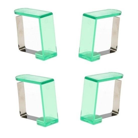8x groene tafelkleed klemmen