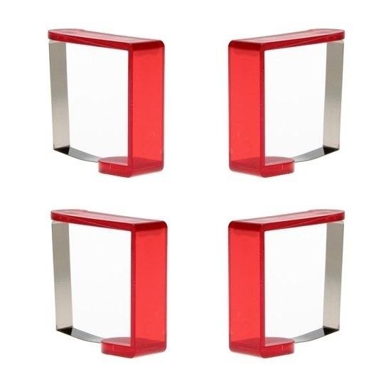 12x stuks rode tafelkleed klemmen
